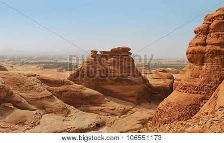 Red Mountain Landscape - Desert Wasteland / Canyon