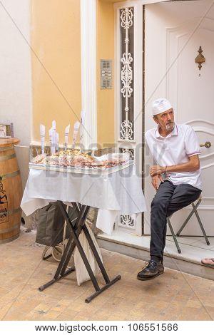 Man Selling Cookies