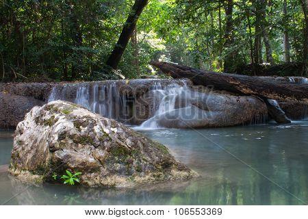 Waterfall Erawan Kanjanaburi In Thailand