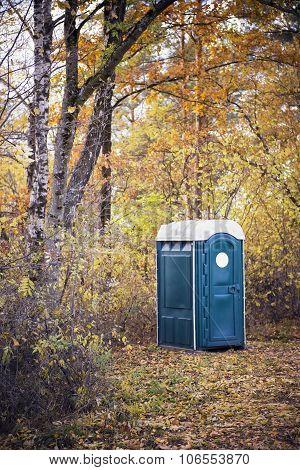 Portable Toilet At An Outdoor