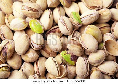 Pistachios fruit background