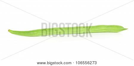 Green French Beans In Isolated White Background