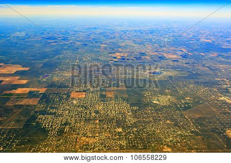 Aerial View Of Some Lands