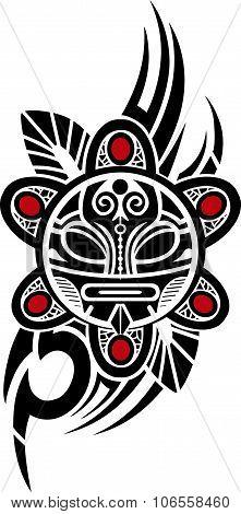 Taino Sun Tribal Vector illustration