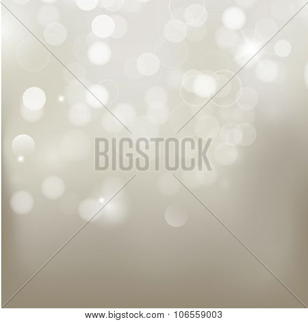 Silver Background With  Unfocused Glares.