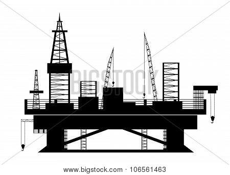 icon  Oil platform.