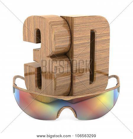 3D Wood Logo