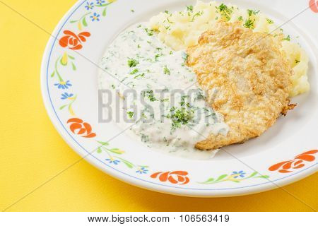 schnitzel with potato