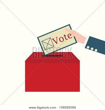 Vote Design Conceptual Vector Illustration.