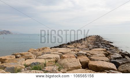 Pier Of Large Stones