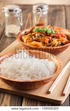 Bowl Of Rice Noodles