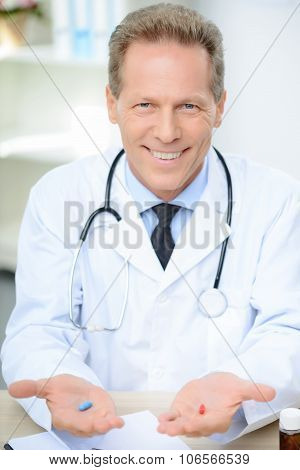 Professional doctor involved in work
