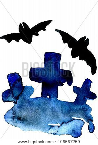 Blue Crosses And Bats