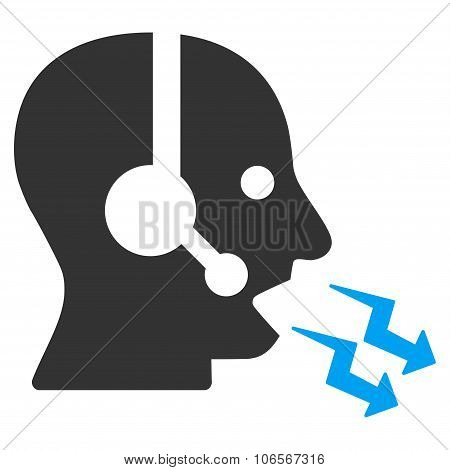 Operator Shout Flat Icon