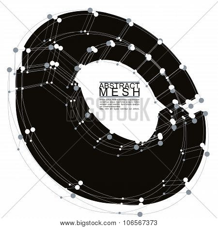 Abstract black vector background .Three-dimensional design element