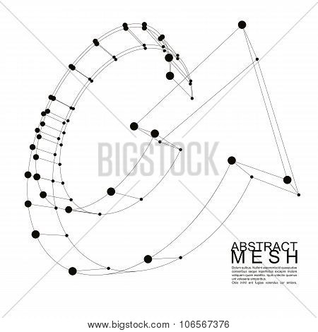Abstract Vector Background, Modern Style Technology And Science Theme Layout, Connection