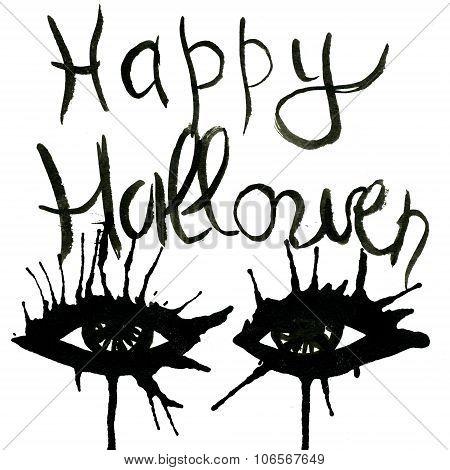 Abstract Happy Hallowen Acquarelle