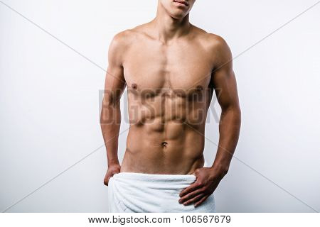 Concept for sexy sporty young man