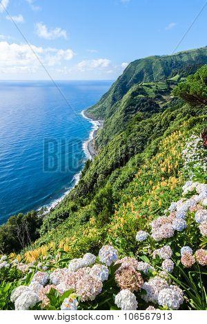 Viewpoint Ponta Da Sossego In Sao Miguel, Azores Island