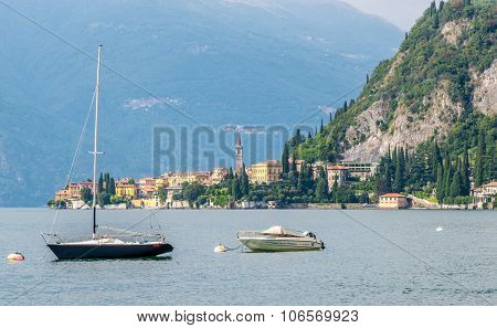 View At The Como Lake With Varenna