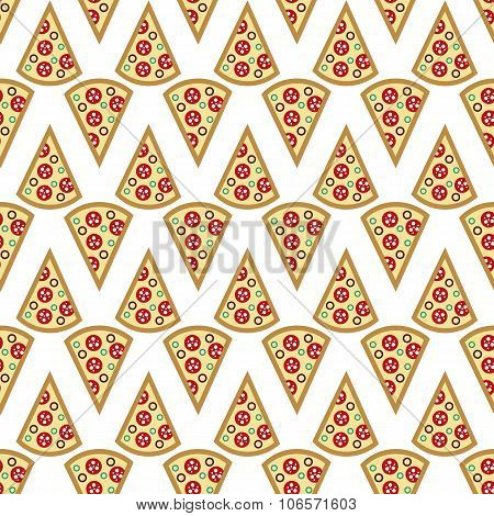 A Slice Of Pizza Seamless Pattern