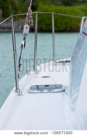 Detail Of An Yacht: Deck And A Hatch