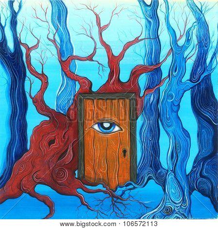 Magic Door In The Forest