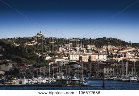 Sardinia landscape la maddalena port