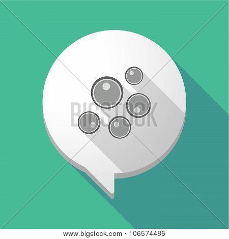 Long Shadow Comic Balloon With Oocytes