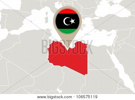 Libya On World Map