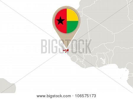Guniea-bissau On World Map