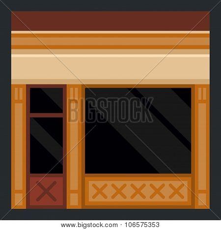 Clothes Store Building Facade. Vector
