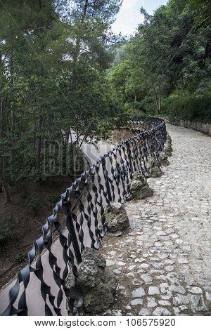 Ironwork railing, Park Guell