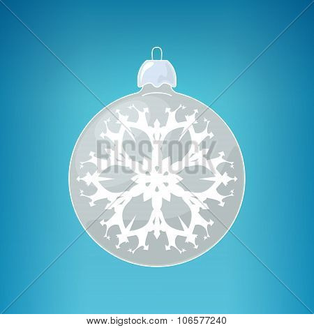 Silver Ball With Snowflake