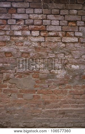 Old Brick Wall: Texture Of Vintage Brickwork