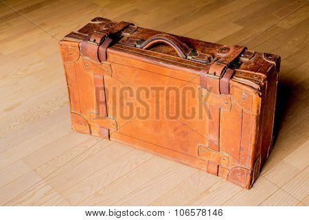 Old Brown Travelling Trunk