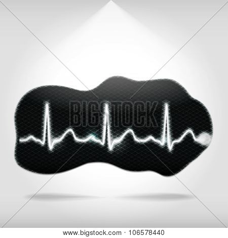 Heartbeat On An Abstract Shape