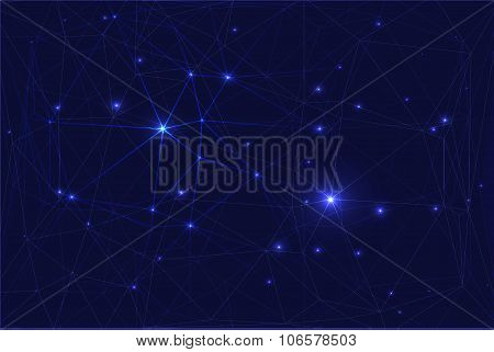 Cosmic constellation with stars.