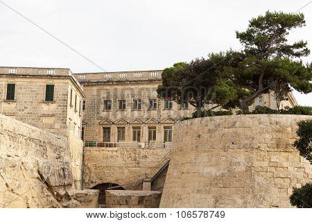 Fort Saint Elmo in capital of Malta - Valletta. Europe.