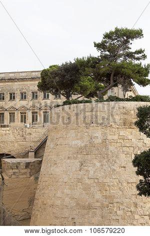 Fort Saint Elmo In Capital Of Malta - Valletta. Europe