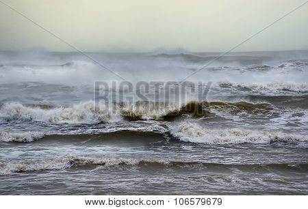 A rough seascape in Scotland