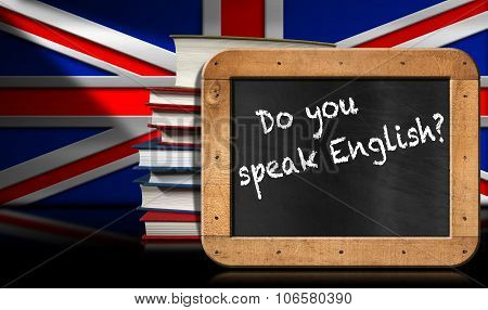 Do You Speak English - Blackboard And Book