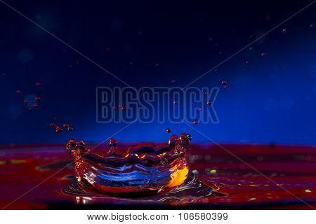 Water. Drops. Spray. Wavelets.