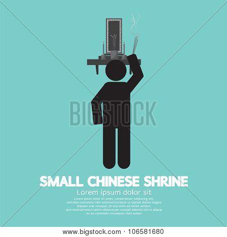 Black Symbol Small Chinese Shrine.