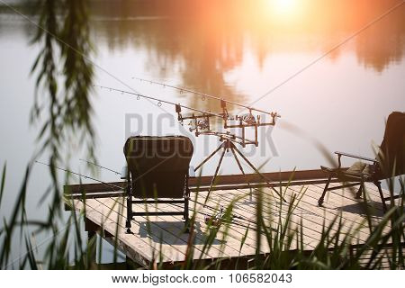 Beautiful View With Fishing Rods