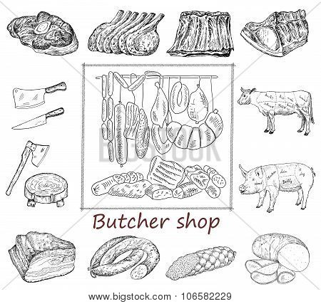 Butcher shop set