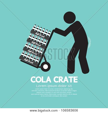 Cola Crate On Trolley Symbol.