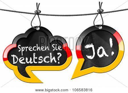 Sprechen Sie Deutsch - Speech Bubbles