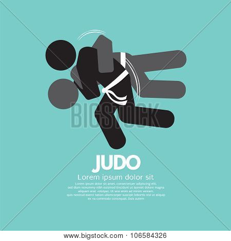 Black Symbol Judo Fighter.