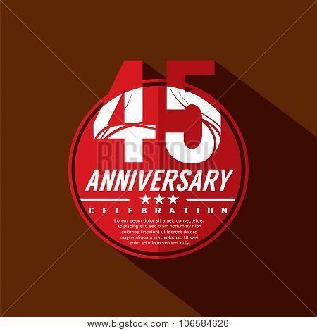 45 Years Anniversary Celebration Design.
